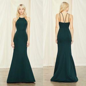 Amsale Carter Bridesmaid Dress Sage Green